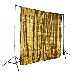 Foni un turētāji - Walimex pro sequin background 2,6x2,4m gold noma