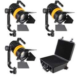 Fresnels Lights - Falcon Eyes Bi-Color Mini LED Fresnel Kit P-5AD-K3 - quick order from manufacturer