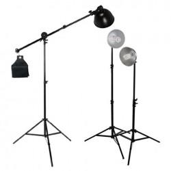 Fluorescējošās - StudioKing Daylight Set 3x85W with Boomarm - ātri pasūtīt no ražotāja