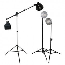 Флуоресцентное освещение - StudioKing Daylight Set 3x85W with Boomarm - быстрый заказ от производителя