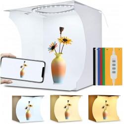 Gaismas kastes - Puluz Folding Portable Ring Light Photo Lighting Studio 30cm PU5030 - perc šodien veikalā un ar piegādi