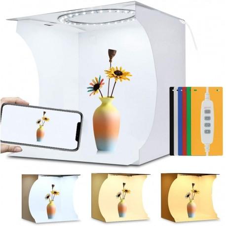 """""""Ring"""" pastāvīgā gaisma - Puluz Folding Portable Ring Light Photo Lighting Studio 30cm PU5030 - perc šodien veikalā un ar piegādi"""