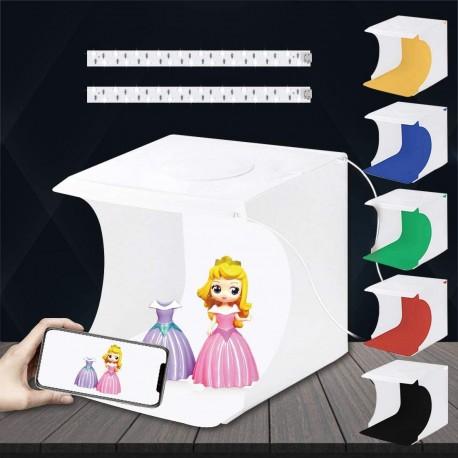 Gaismas kastes - Photo studio LED Puluz 20cm 1100 lmn PU5022 - ātri pasūtīt no ražotāja