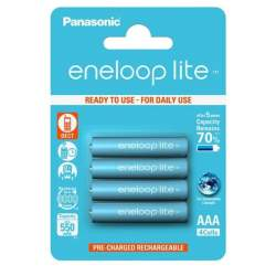 Batteries and chargers - Panasonic Eneloop Lite BK-4LCCE/4BE 550mah 3000 4xAAA - buy today in store and with delivery