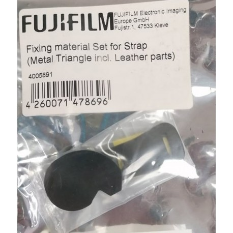 Fixing material for Strap (Metal Triangle incl. Leather parts)