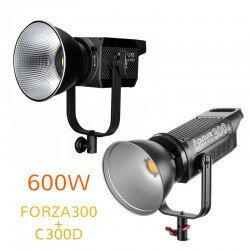 Video lights - Aputure C300D + C300D II or Nanlite FORZA300 double LED 600W lighting kit rent