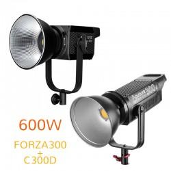 Video gaismas - Aputure C300D + Nanlite FORZA300 dubultais LED 600W apgaismojuma komplekta noma