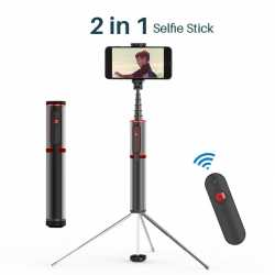 Baseus Fully Folding Selfie Stick (Black+red) SUDYZP-D19