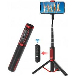 Viedtālruņiem - BlitzWolf BW-BS10 Bluetooth Selfie Stick Tripod (black) 019933 - perc šodien veikalā un ar piegādi
