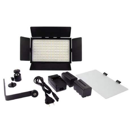 LED панели - Falcon Eyes Bi-Color LED Lamp Set Dimmable DV-384CT-K2 incl. Battery - быстрый заказ от производителя