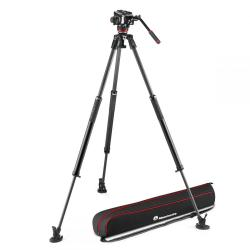 Monopodi - Manfrotto 504X Fluid Video Kit with 635 Fast Single Carbon Tripod (MVK504XSNGFC) - ātri pasūtīt no ražotāja