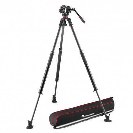 Monopods - Manfrotto 504X Fluid Video Kit with 635 Fast Single Carbon Tripod (MVK504XSNGFC) - quick order from manufacturer
