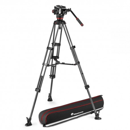 Video Tripods - Manfrotto 504X Fluid Video Head with CF Twin leg tripod MS (MVK504XTWINMC) - quick order from manufacturer