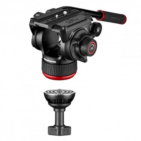 Video Tripods - Manfrotto 504X Fluid Video Head with Alu Twin leg tripod GS (MVK504XTWINGA) - buy today in store and with delivery