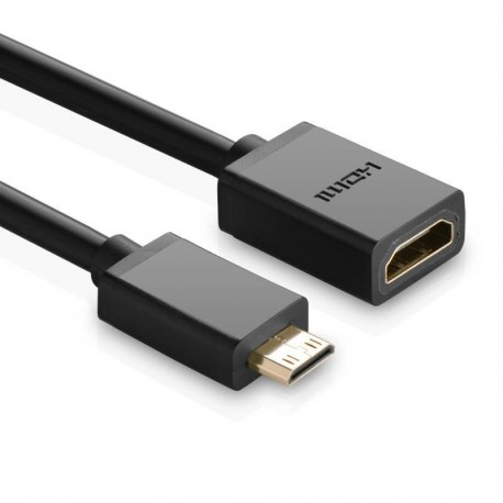 UGREEN 20137 Adapter Mini HDMI to HDMI, 22cm (black)