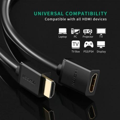 UGREEN HDMI extender male to HDMI female HD107, FullHD, 3D, 2m (10142)