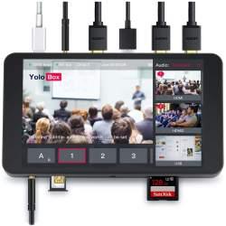 Streaming, Podcast, Broadcast - YoloLiv YoloBox Portable Multi-Camera Live Streaming Device Wi-Fi Ethernet 4G touchscreen - купить сегодня в магазине и с доставкой