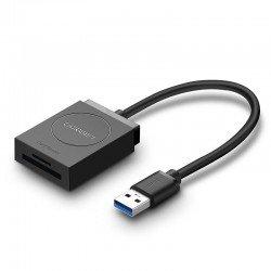 Atmiņas kartes - UGREEN USB Adapter Card Reader SD, microSD 20250 - perc šodien veikalā un ar piegādi