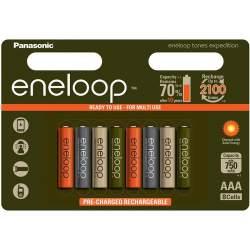 Panasonic Eneloop AAA 800mAh/2100mAh 1.2V NiMH akumulatori, lādējamās baterijas