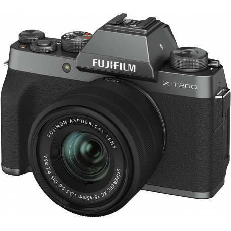 Bezspoguļa kameras - Fujifilm X-T200 + 15-45mm Kit, tumši sudrabots 16645955 - perc šodien veikalā un ar piegādi