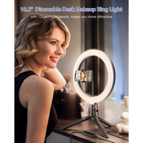 Viedtālruņiem - Blitzwolf BW-SL3 Ringlight Desktop Flash LED Phone Holder - perc šodien veikalā un ar piegādi