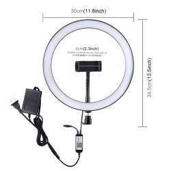 Video LED - 30cm RGB Dimmable LED Vlogging Ring with Cold Shoe PULUZ for Smartphones (PU411E - buy today in store and with delivery