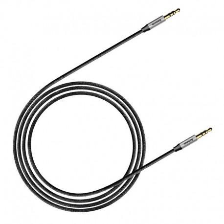 Baseus Yiven Audio Cable mini jack 3,5mm AUX, 1m (Black+Silver)