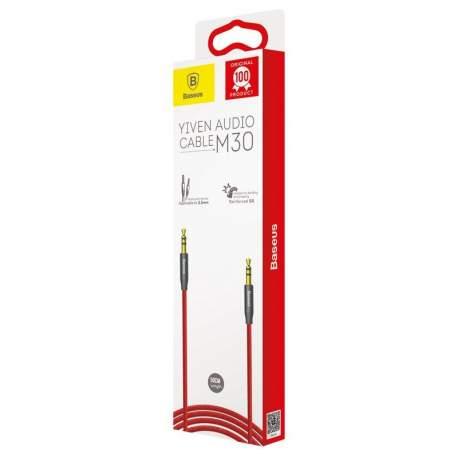 Baseus Yiven Audio Cable mini jack 3,5mm AUX, 0,5m Red