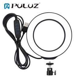 Кольцевая лампа LED - Puluz Светодиодная кольцевая LED BI-COLOR лампа с регулируемой цветовой температурой - купить сегодня в магазине и с доставкой