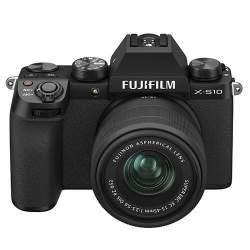 Bezspoguļa kameras - Fujifilm X-S10 XC15-45 mirrorless 26MP X-Trans BSI-CMOS IBIS black - perc šodien veikalā un ar piegādi