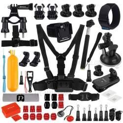 Action kameru aksesuāri - Puluz Set of 53 accessories for sports cameras PKT16 Combo Kits - perc šodien veikalā un ar piegādi