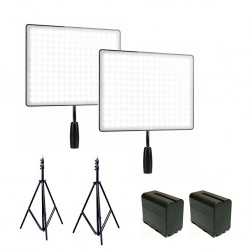 Video lights - Yongnuo 2x LED Light YN-600 Air kit bi-color (3200 K - 5500 K) rent