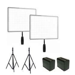 Video gaismas - Yongnuo 2x LED Light YN-600 Air komplekts bi-color (3200 K - 5500 K) noma