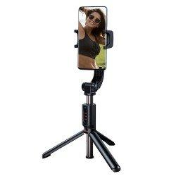 Viedtālruņu statīvi - Selfie viedtālrņa statīvs ar stabilizātoru un Bluetooth tālvadības pulti Baseus - perc šodien veikalā un ar piegādi