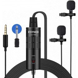 Mikrofoni - Synco LAV-S6D Double Lavalier microphone - perc šodien veikalā un ar piegādi