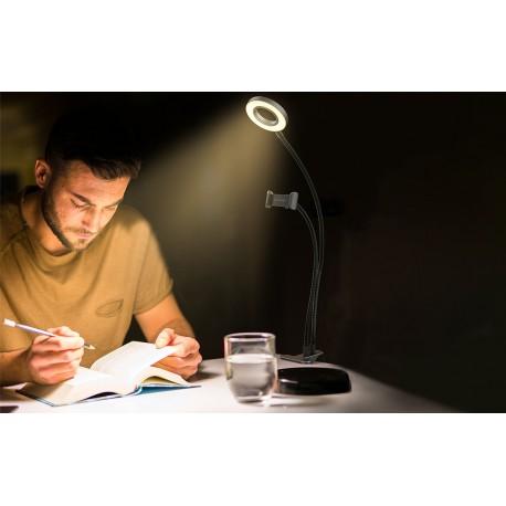 LED Gredzenveida lampas - Blitzwolf BW-SL6 LED gredzenveida dimējama bi-color lampa ar viedtālruņa turētāju - perc šodien veikalā un ar piegādi