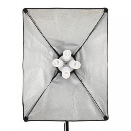 Fluorescējošās - StudioKing PK-SB5070 8x45W 2x 50x70cm dienas gaismu komplekts - perc šodien veikalā un ar piegādi