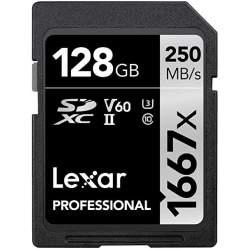 Карты памяти - LEXAR PRO 1667X SDXC UHS-II U3 (V60) R250/W120 128G - купить сегодня в магазине и с доставкой