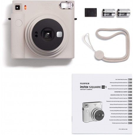 instax SQUARE SQ1 CHALK WHITE instant camera