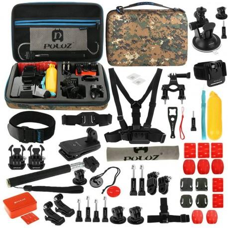 Action kameru aksesuāri - Puluz Set of 53 accessories for sports cameras PKT27 Combo Kits - ātri pasūtīt no ražotāja