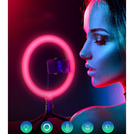 Gredzenveida LED lampas - Blitzwolf BW-SL5 Desktop Flash LED RGB Phone Holder - perc šodien veikalā un ar piegādi