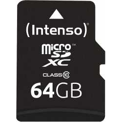 Intenso Memory card micro SDXC 64GB C10