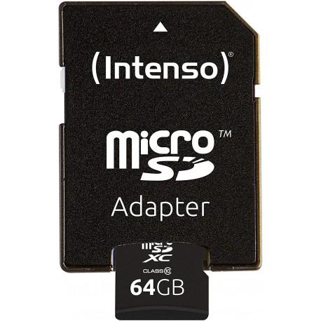 Atmiņas kartes - Intenso Memory card micro SDXC 64GB C10 - perc šodien veikalā un ar piegādi
