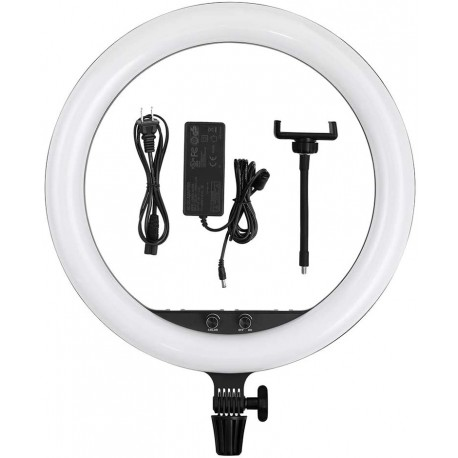 LED Gredzenveida lampas - Godox LR150B LED gredzenveida dimējama bi-color lampa ar statīvu 240F - 45cm - perc šodien veikalā un ar piegādi