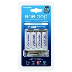 Батарейки и аккумуляторы - Eneloop BQ-CC61 E USB lādētājs 4x AA 2000mAh BK-3MCCE - купить сегодня в магазине и с доставкой