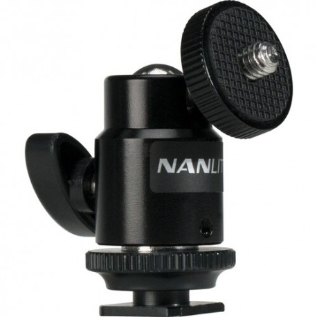 NANLITE MINI BALL HEAD WITH 1/4 AND HOTSHOE