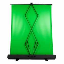 Backgrounds - StudioKing Roll-Up Green Screen FB-150200FG 150x200 cm Chroma Green - buy today in store and with delivery