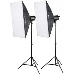 Studijas zibspuldžu komplekti - Bresser BRM-300AM Studio set 2x 300W - perc šodien veikalā un ar piegādi