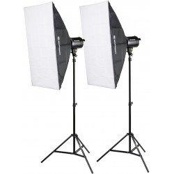 Studijas zibspuldžu komplekti - Bresser BRM-300AM Studio set 3x 300W - купить сегодня в магазине и с доставкой