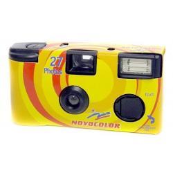 Filmu kameras - Novocolor vienreizējās lietošanas kamera 400/27 ar zibspuldzi - perc šodien veikalā un ar piegādi
